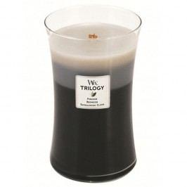 Lumânare prafumată WoodWick Trillogia Lemn cald 609 g, 130ore