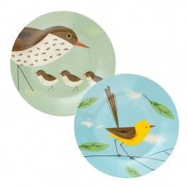Set 2 farfurii Magpie Birdy, Ø26 cm