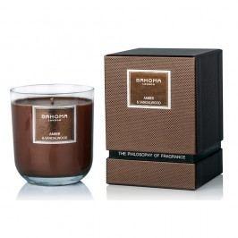 Lumânare parfumată în cutie cadou Bahoma London, aromă de chihlimbar și lemn de santal