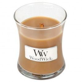 Lumânare parfumată WoodWick, aromă de scorțișoară, ovăz și lapte de migdale, 20 ore