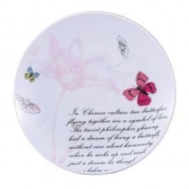 Farfurie desert Bergner Pink Butterfly, 19 cm