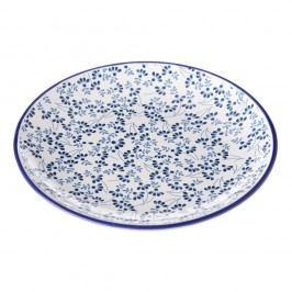 Farfurie Unimasa Meadow, albastru - alb