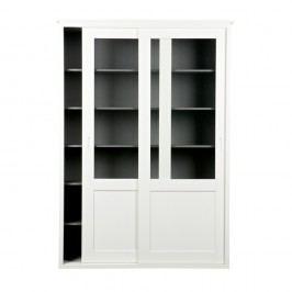 Dulap din lemn cu uși culisante De Eekhoorn Vince, alb