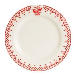 Farfurie Comptoir de Famille Damier, 27 cm, roșu - alb