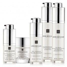Set ser hidratant pentru ochi și piele, cremă anti-celulitică, tratament pentru gât și bărbie ABLE Full Cosmetic Dron