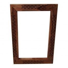 Oglindă cu ramă din lemn masiv de palisandru Massive Home Rosie