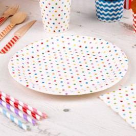 Set 8 farfurii din hârtie Neviti Carnival Dots