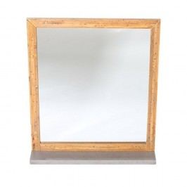 Oglindă de perete din lemn de pin Woodking Stonewall, gri